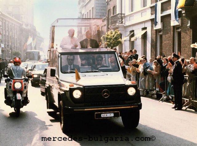 Mercedes G-class Popemobil