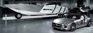 Mercedes-SLS-AMG-Cigarette-Racing-Boat