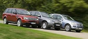 Range Rover BMW Mercedes ML